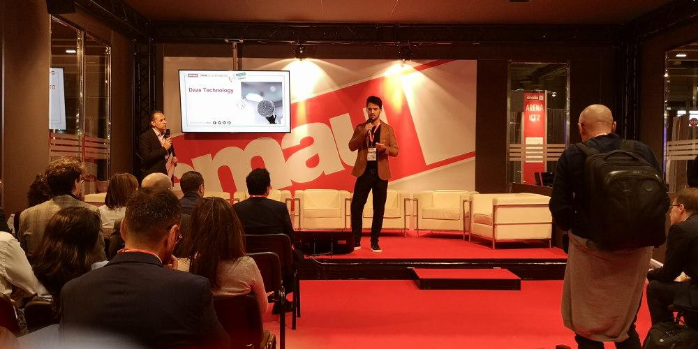 Immagine tratta dalla presentazione aziendale durante la fiera Smau di milano nel 2019