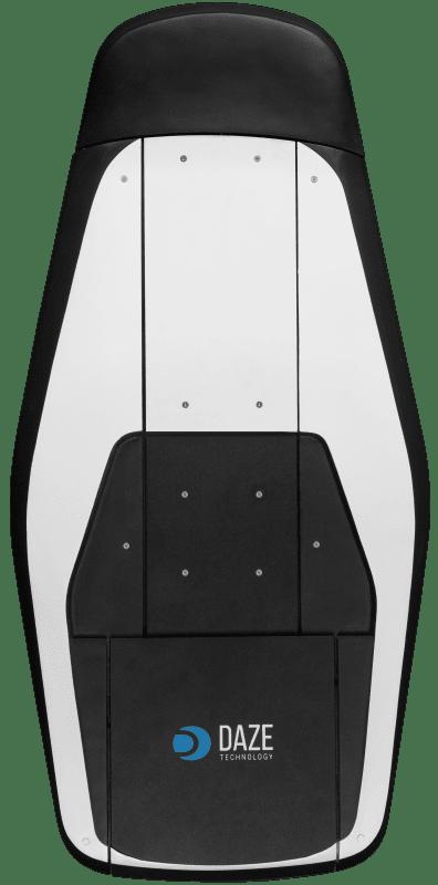 Vista superiore sistema di ricarica automatica auto elettriche Daze plug