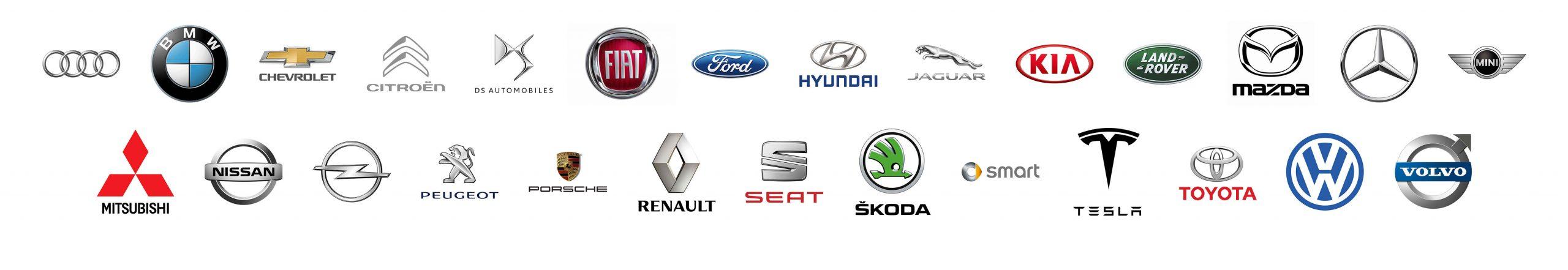 rappresentazione in loghi case automobilistiche compatibili con sistema di ricarica dazatechnology
