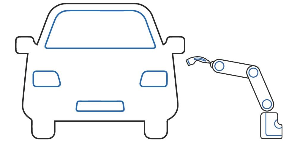 Ricarica automatica conduttiva dal lato