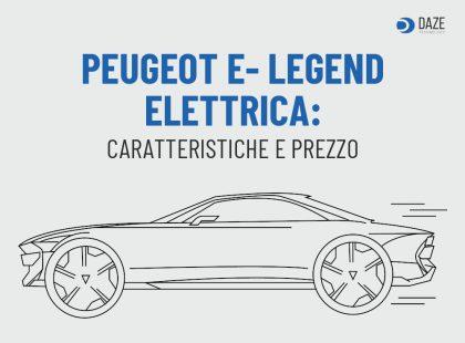 Peugeot E-Legend elettrica: prezzo